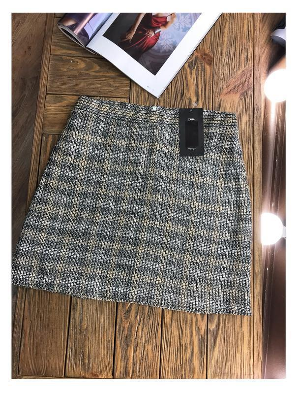 Твидовая юбка от zara - Фото 4