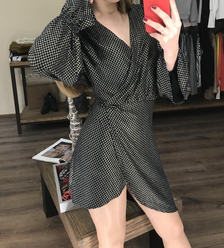 Платье с люрексом от zara - Фото 3