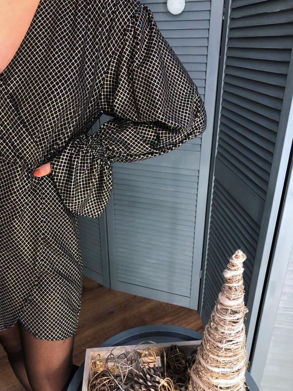 Платье с люрексом от zara - Фото 6
