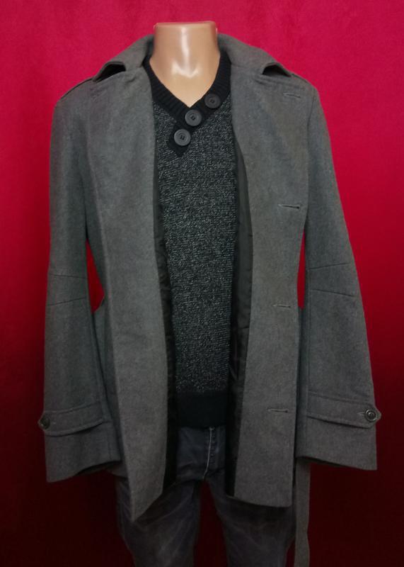 Модное мужское пальто шерстяное по супер цене - Фото 6