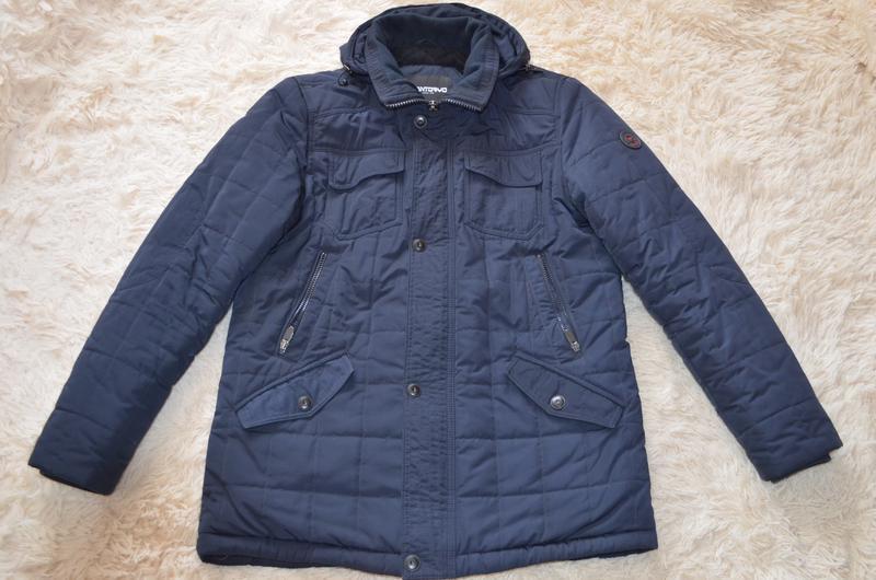 Мужская теплая стеганая куртка santoryo темно-синего цвета, ра...