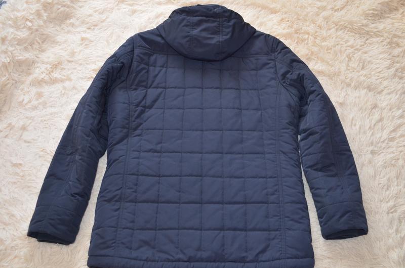 Мужская теплая стеганая куртка santoryo темно-синего цвета, ра... - Фото 2