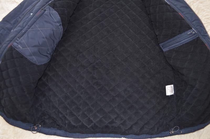 Мужская теплая стеганая куртка santoryo темно-синего цвета, ра... - Фото 3