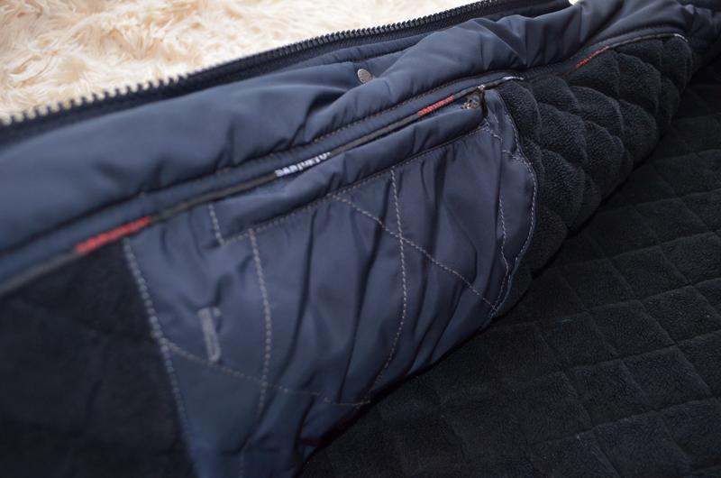 Мужская теплая стеганая куртка santoryo темно-синего цвета, ра... - Фото 4