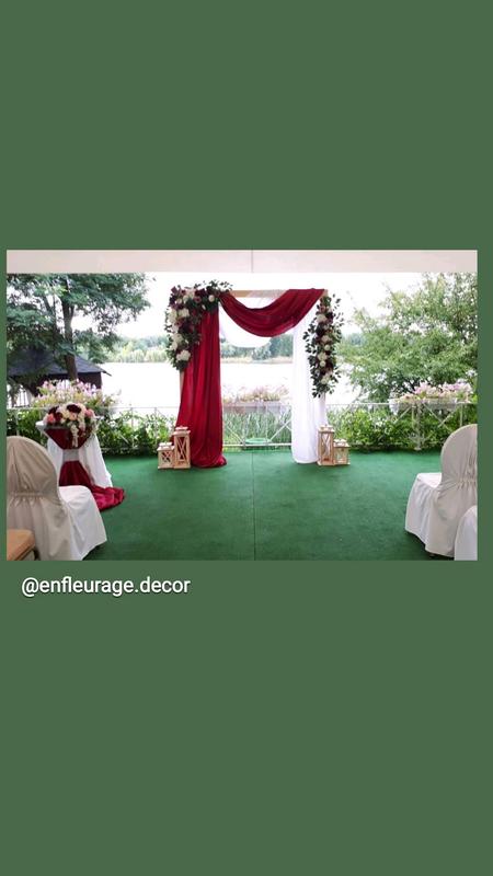 Прямоугольная арка на свадьбу - Фото 3