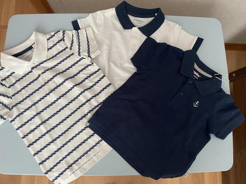 Комплект набор футболок поло lupilu 2-4 года