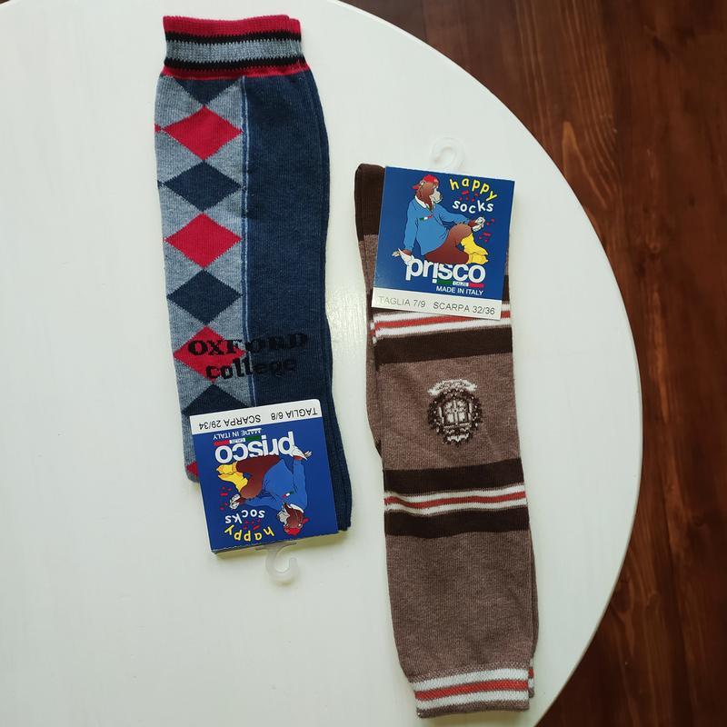 Гольфы высокие носки гетры оксфорды хлопковые для мальчика кор...