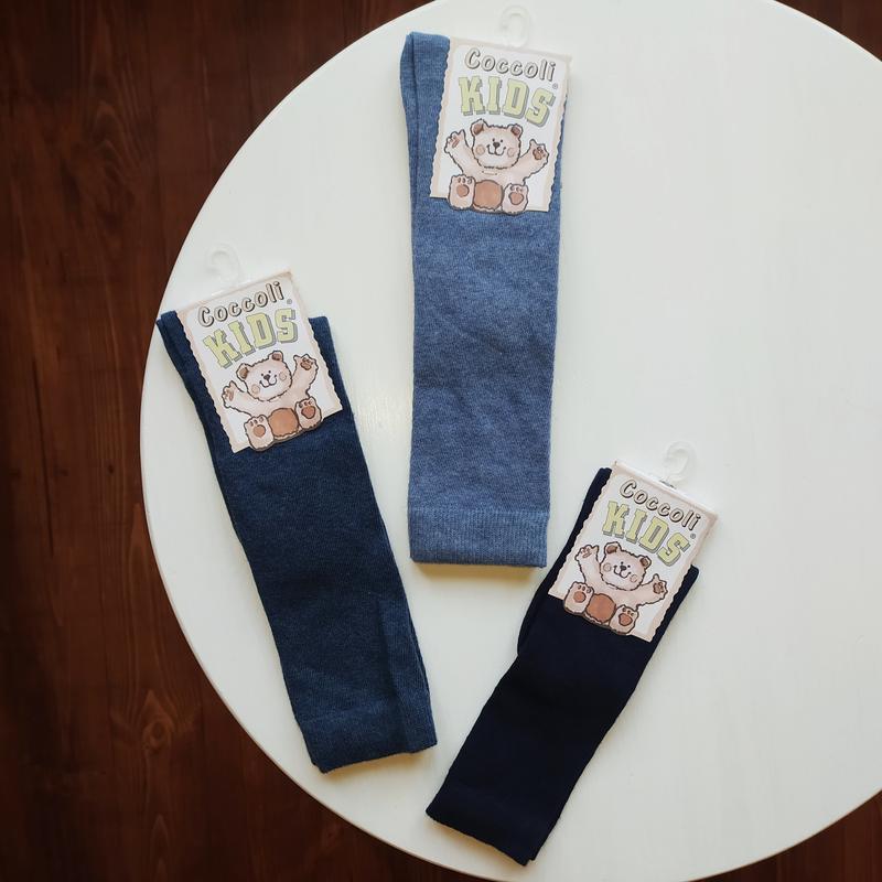 Высокие носки гольфы гетры для мальчика девочки синие голубые ...
