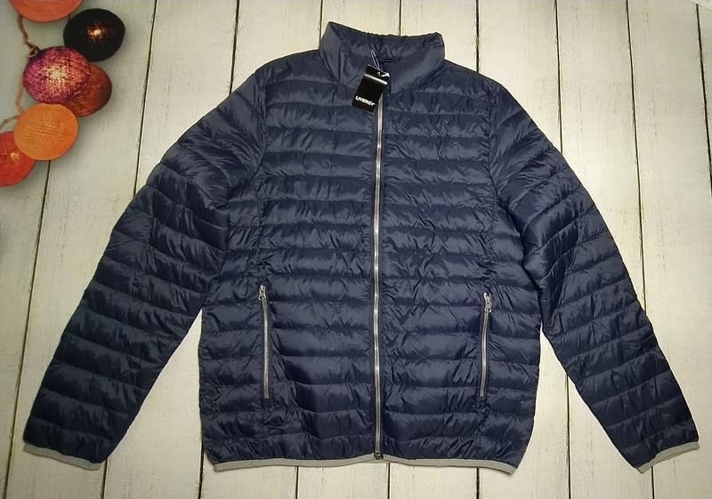 Демисезонная стеганая куртка мужская р.евро l 52 livergy германия - Фото 4
