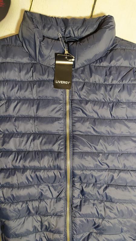 Демисезонная стеганая куртка мужская р.евро l 52 livergy германия - Фото 5