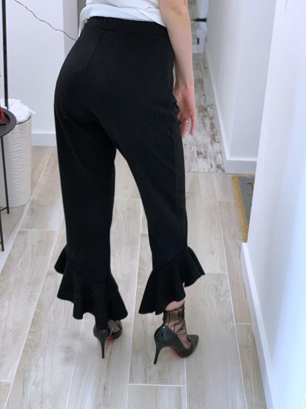 Укорочённые брюки с воланами - Фото 2