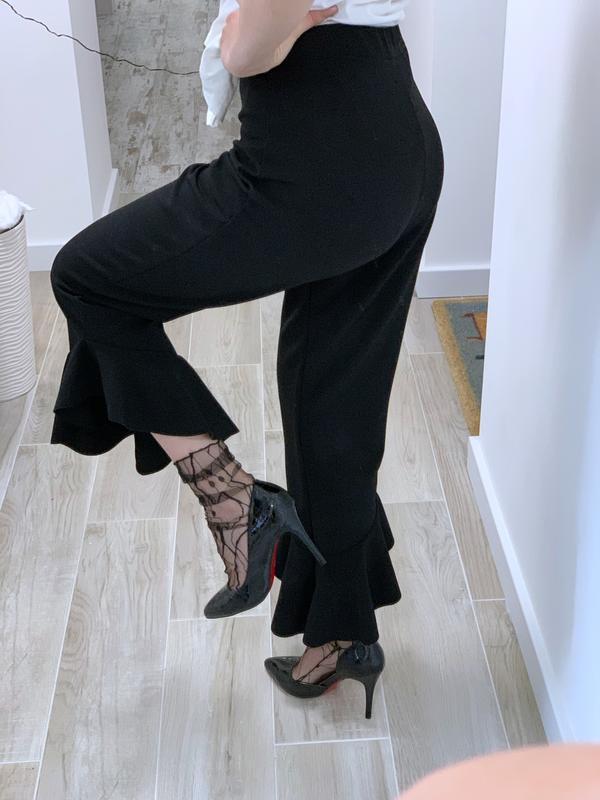 Укорочённые брюки с воланами - Фото 3