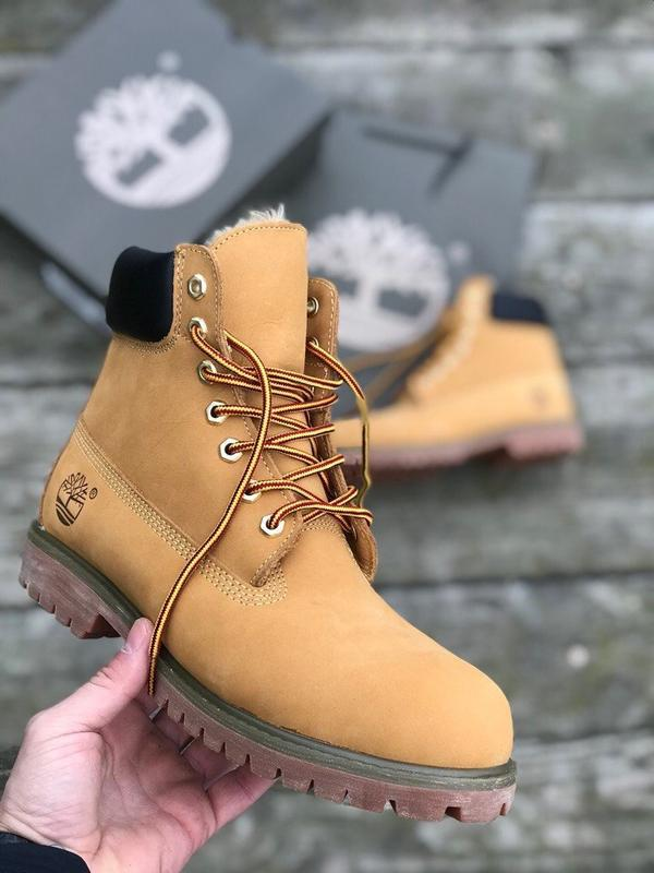 Ботинки timberland brown, зимние с мехом - Фото 6