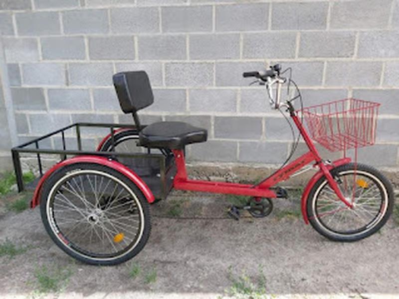 Велосипед трехколесный грузовой реабилитационный