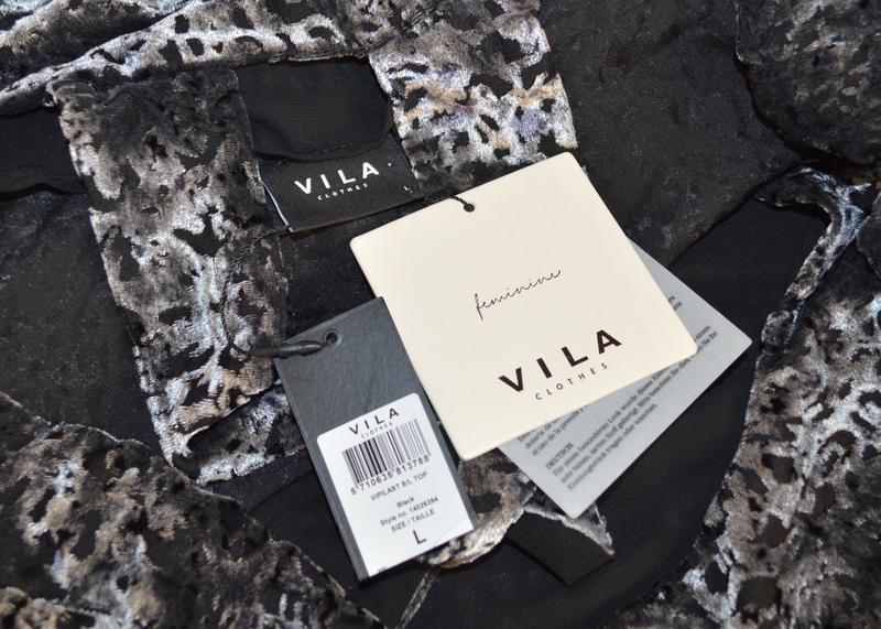 Брендовая серая велюровая майка топ блуза vila clothes вискоза... - Фото 8