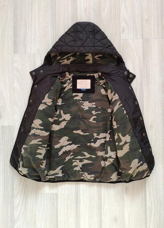Стеганая куртка мальчику 116см - Фото 3