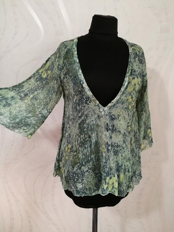 Легкая воздушная шелковая блуза