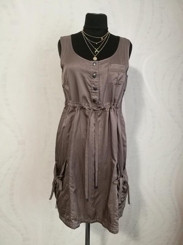 Шелковое платье сарафан туника шелк+коттон