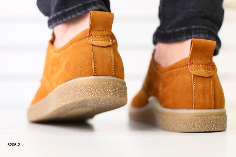 Мужские туфли рыжие на шнурках, нубук 💥 - Фото 4