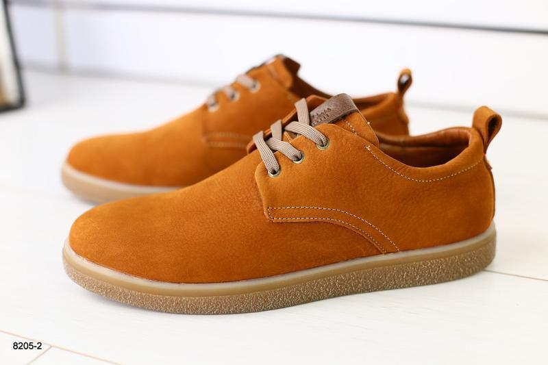 Мужские туфли рыжие на шнурках, нубук 💥 - Фото 5