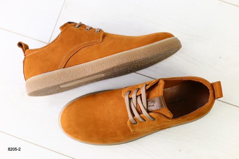 Мужские туфли рыжие на шнурках, нубук 💥 - Фото 6