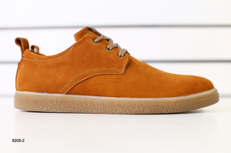 Мужские туфли рыжие на шнурках, нубук 💥 - Фото 7
