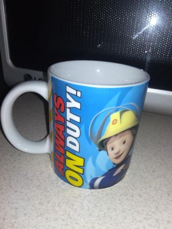 Детская кружка с пожарными