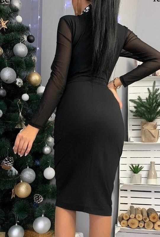 Роскошное платье миди . вечернее платье, платье для вечеринки - Фото 2