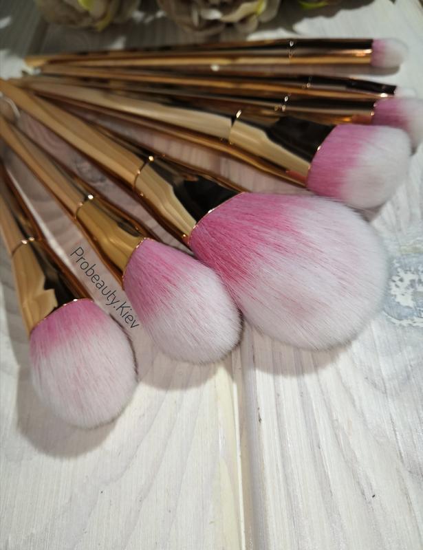 Кисти для макияжа набор 7 шт gold probeauty - Фото 3