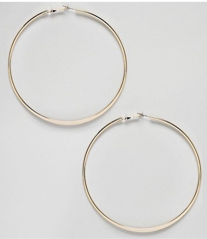 Нереальные большие серёжки-кольца от river island - Фото 2
