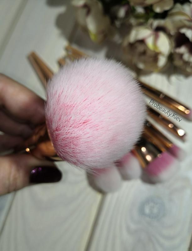 Кисти для макияжа gold/pink набор 7 шт probeauty - Фото 5