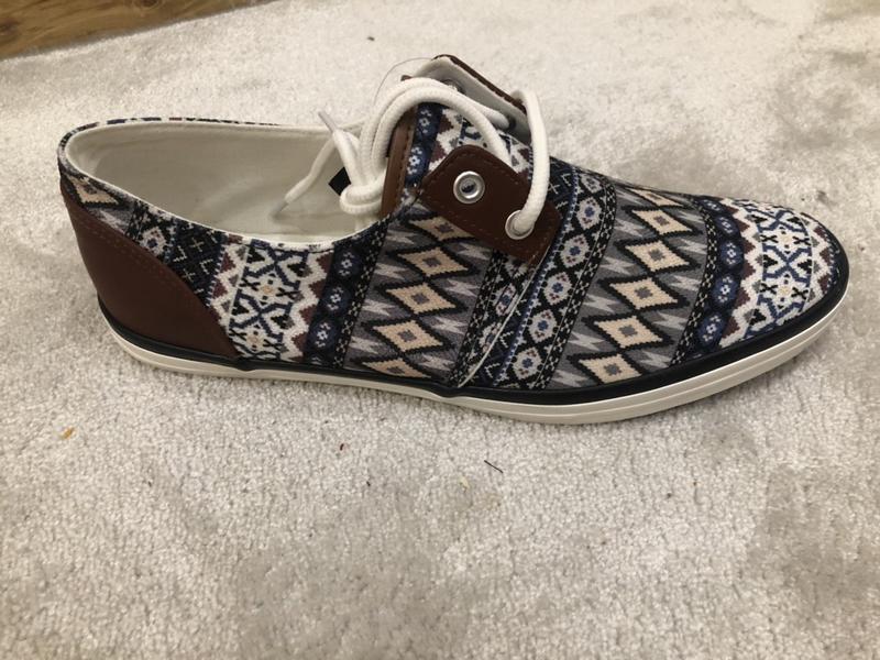 Туфли мужские с кожаными вставками