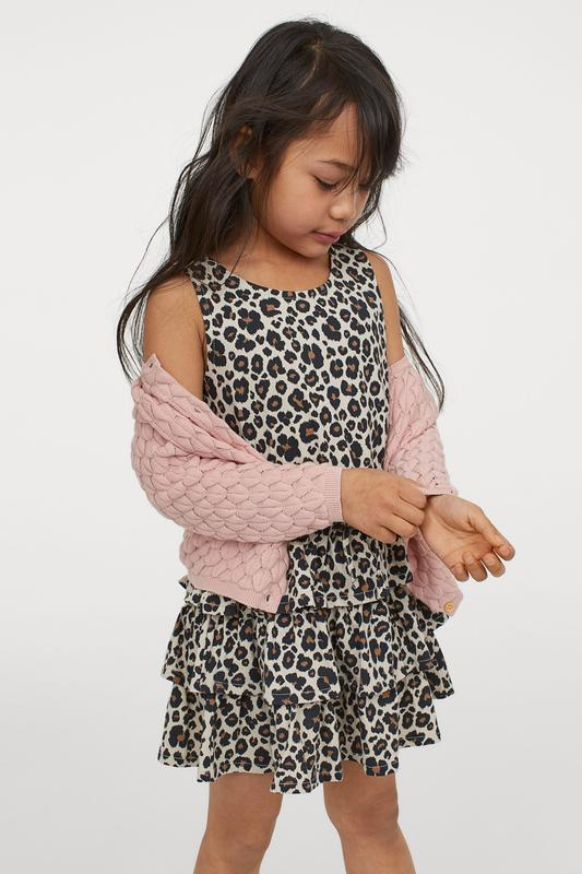 нарядное леопардовое платьице фирмы H&M 4-6 лет рост 110/116
