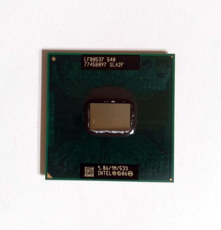 472 Intel Celeron M 540 1867 MHz SLA2F Socket P 1 ядро 64 бита...