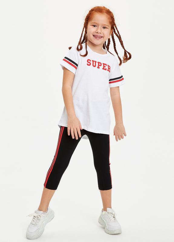Комплект: лосины + футболка, спорт, школа