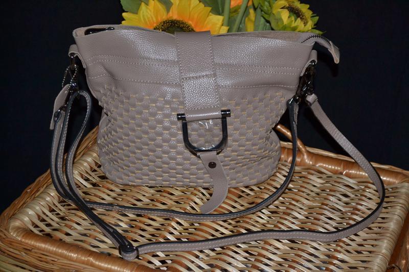 Мягкая кожаная сумка