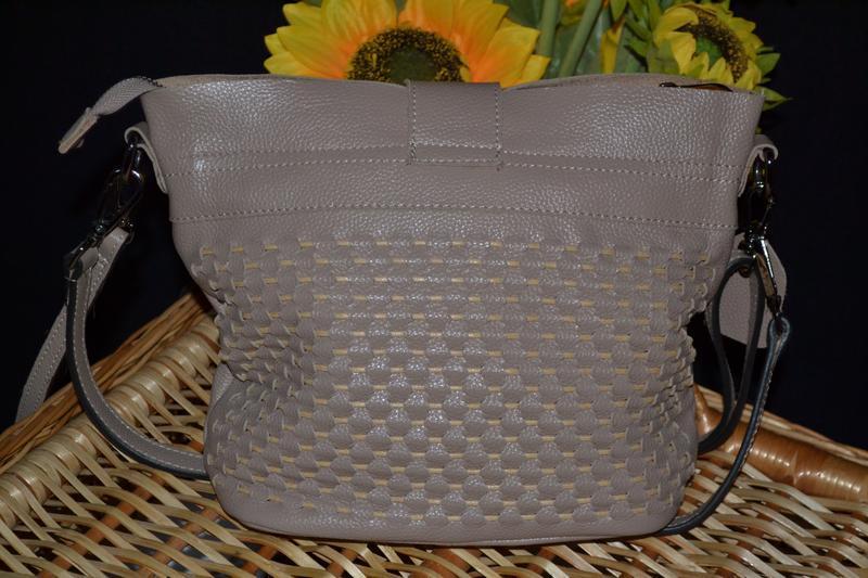 Мягкая кожаная сумка - Фото 3