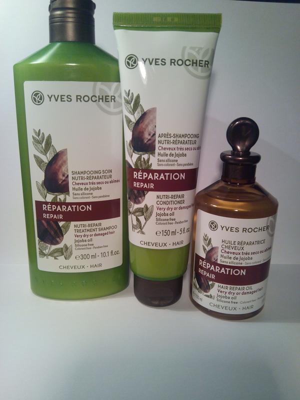Набор ив роше для волос питание и восстановление с маслом жожо...