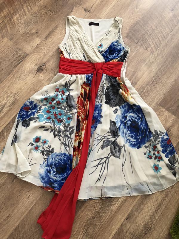 Летний сарафан платье с поясом