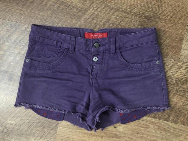 Шорты джинсовые фиолетовые junker разм 27