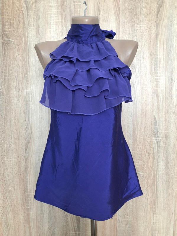 Блуза с лентами сатин и открытыми плечиками