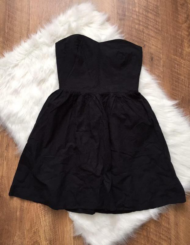 Черное хлопковое платье