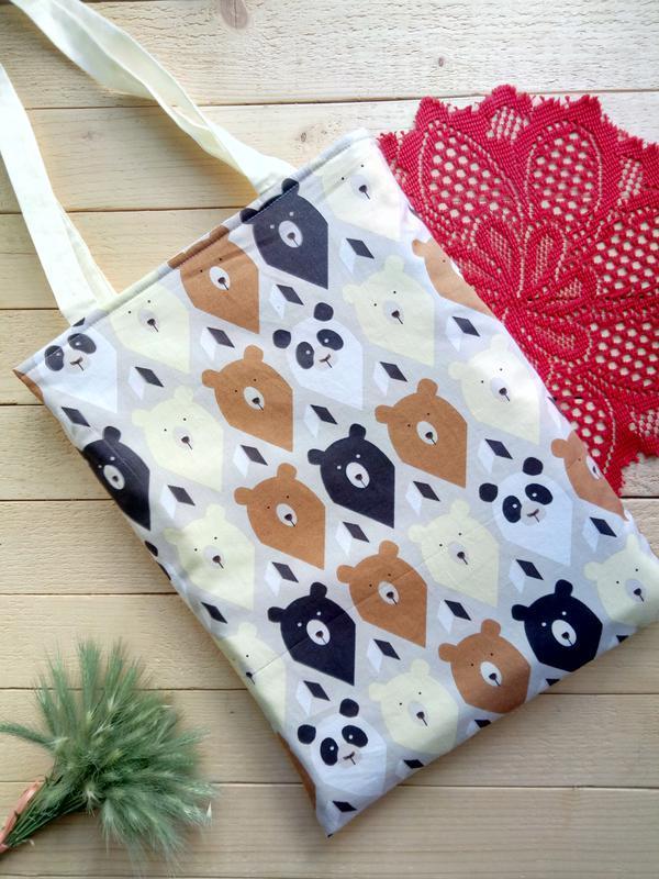Двухсторонняя сумка с милейшими мишками
