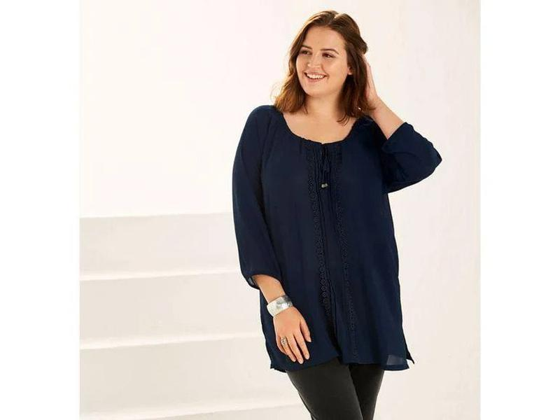 Женская блуза esmara, размер xl, темно синий
