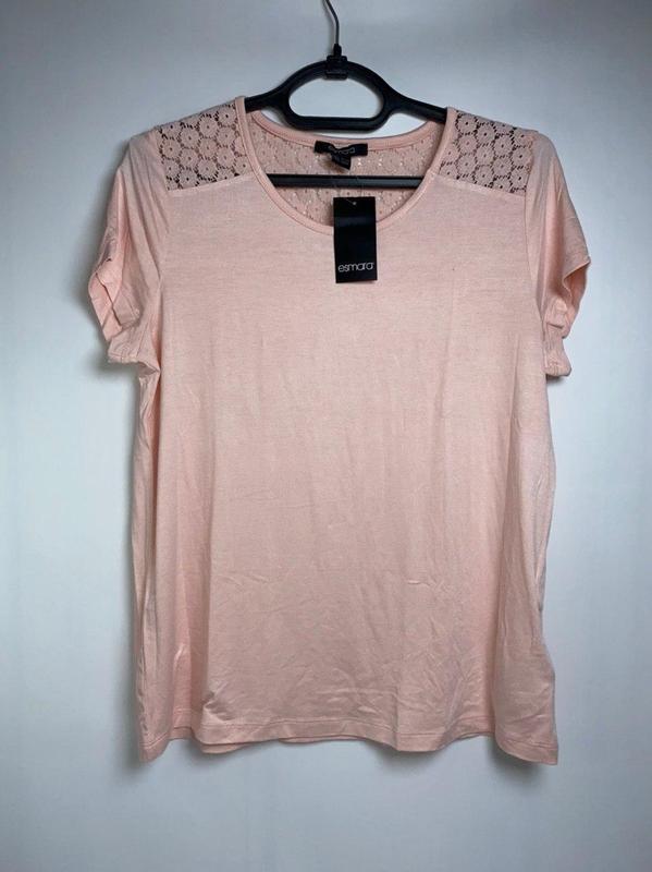 Легкая летняя футболка esmara розовая германия s 36 - 38 р.