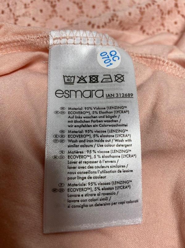 Легкая летняя футболка esmara розовая германия s 36 - 38 р. - Фото 6