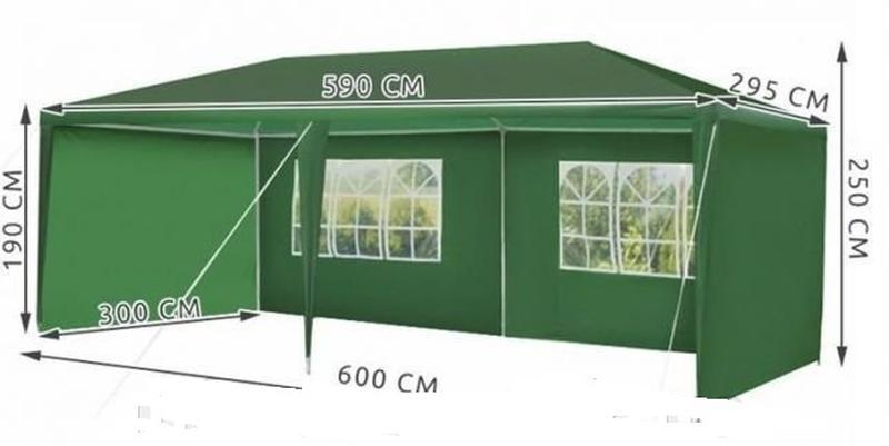 Павильон садовый 3х6 м, шатер, палатка торговая, альтанка. Польша