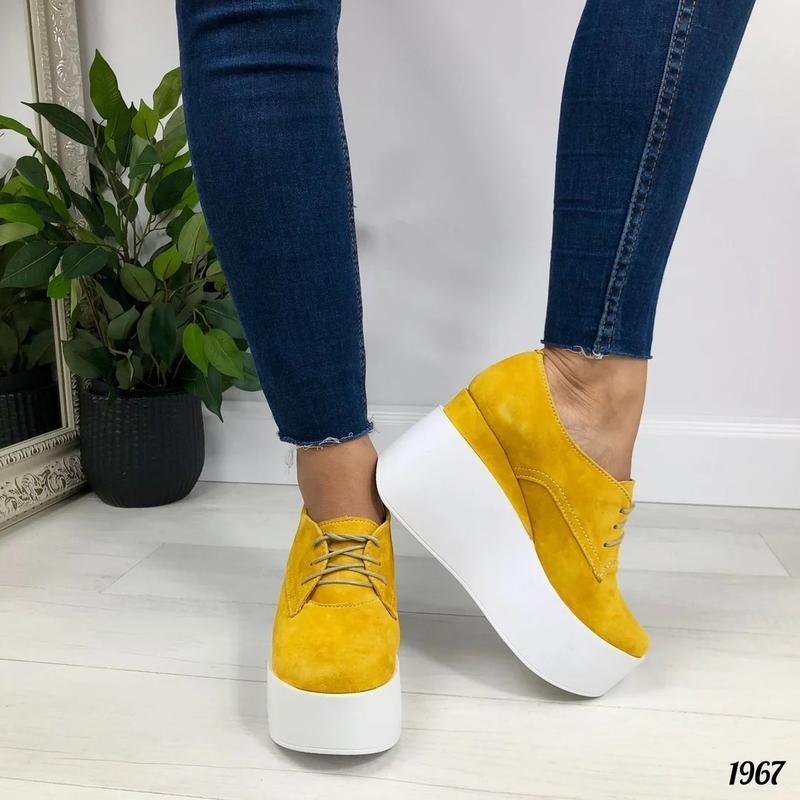 Туфли женские желтого цвета - Фото 2