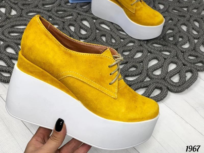 Туфли женские желтого цвета - Фото 4